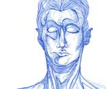 Blue Sketch #3