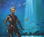 AQUARIUM Oil on canvas 130 cm x 81 cm
