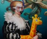 OCTOPUS Oil on canvas - 81 cm x 65 cm