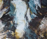 Die Badende, 2014, Mischtechnik auf Leinwand,140x100 cm