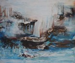 Atlantis, 2014, Mischtechnik auf Leinwand, 120x150 cm