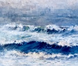 Foggy Surf. Oil. 36x48