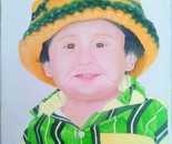 boy portrait in oil paint