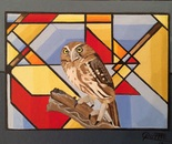 PIGMY OWL/ GEOMETRIC ABSTRACT