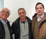 con amici pittori a Carmagnola