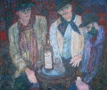 """Mea culpa"". Oil/canvas, 90x101 cm, 1998"