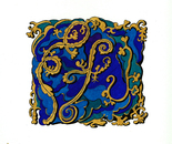 The Blue & Gold Tile Design