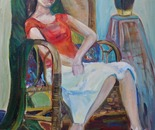woman on the chair