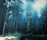 Arborescenze in blu cm.100x100