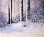 Quiete dopo la nevicata cm.120x100