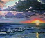 Suggestivo tramonto cm.80x100