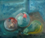 Blue still life ...oil on canvas 25x20