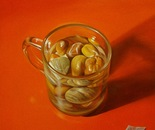 ,,Strong drink''-oil on canvas-25x25cm