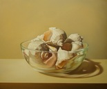 ,,Shells''-oil on canvas-61x50cm.Hiperrealist painting