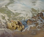 ,,The glass shell''-oil on canvas-80x50cm.Hiperrealist painting