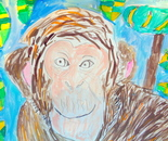 Student's artwork; Chinese New Year 2016 - Year of the Monkey; Exploring the World Through Art Spring Break Camp March 28 - April 1, 2016