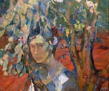 Picture Shavrina Valentine 1936-1990 gg. The Cherry Orchard. canvas / oil, 84.5 / 74.5