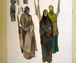 """""""Requiem"""" oil \ cardboard 45h33 1985 VA Shadrin 1936-1990 gg."""