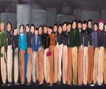 Feierabendgedränge, acrylic on canvas, 50 x 100 cm, 2015