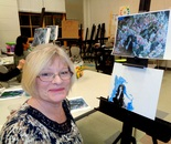 Art Workshop featuring Mikhail Vrubel and painting Lilac 1900 on April 15, 2016 at BlackRock Center for the Arts, Instructor Natalya B. Parris; 12901 Town Commons Drive Germantown, Maryland 20874