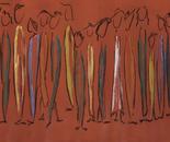 Menschen 27, acrylic on canvas, 50 x 100 cm, 2010
