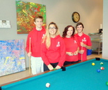 Damascus Community Recreation Center Staff in the Game room at the Damascus Community Recreation Center, 4pm on April 22, 2016 - Day in the Life of Montgomery County & Earth Day 2016
