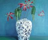 Gloriosa and Chinese pot