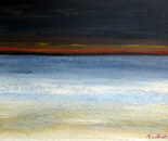 Before the storm, at sea, acrylic 30H/40W cm, 2cm just the atmosphere of the ominous atmosphere
