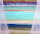 Through the window... imagine looking out at the sea, 30H/40W cm, 2 cm. Acryilic structured