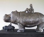 LADY ON HER HIPPO