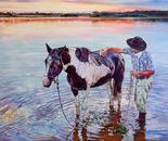 Lusco - Fusco  oil on canvas -  90 x 70 cm