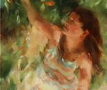 Under Her Peach Tree