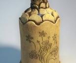 Short Petal Vase With Flowers