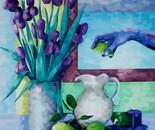 Iris and bergamot