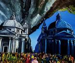 cielo su Roma, oil on canvas, 80x50