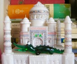 Taj Mahal & crocodile in glass & marble