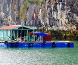 floating house in Along Bay, Vietnam