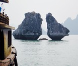 Twin rocks in Along Bay, Vietnam