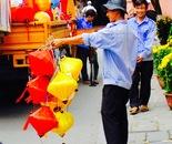 paper lamp vendor, Saigon/HCMC