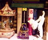 figurines & bookshelf