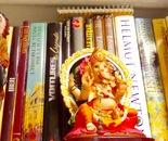 figurines & bookshelf