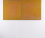 Diptych with two squares, 2012-2016 canvas, colour, wax 100 x 190 x 5 cm