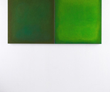 Diptych in green, 2010-2016 canvas, colour 100 x 180 x 5 cm