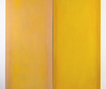 Up and down (Diptych in yellow), 2010-2016 canvas, colour 230 x 180 x 5 cm