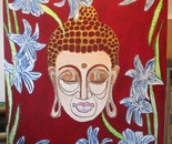 Buddha quietly.