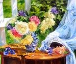 Still life with garden roses