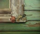 ,,Still waiting...''-oil on canvas-46x38cm
