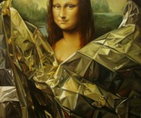 ,,The shy Mona Lisa''-oil on linen-81x60cm