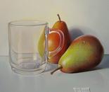 ,,Full light''-oil on canvas-25x25cm