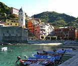 Vernazza Harbor Panorama